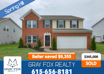 2027 Silverton Circle, Spring Hill TN 37174 SOLD by Gray Fox Realty