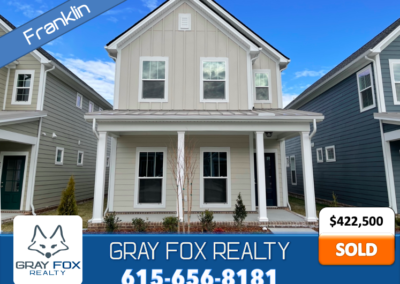 2066 Orangery Dr Franklin, TN 37064 SOLD* by Gray Fox Realty