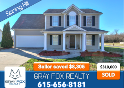 3201 Nicole Drive, Spring Hill, TN 37174 SOLD by Gray Fox Realty