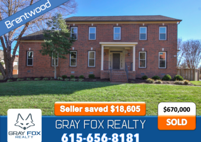 905 S Lane Ct Brentwood, TN 37027 SOLD by Gray Fox Realty
