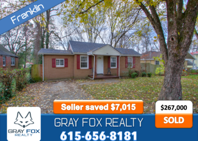 949 Glass Street, Franklin TN 37064 SOLD by Gray Fox Realty