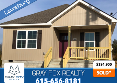 302 Lexie Dr Lewisburg, TN 37091 SOLD* by Gray Fox Realty