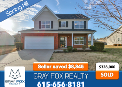 2005 Portman Dr, Spring Hill TN 37174 SOLD by Gray Fox Realty
